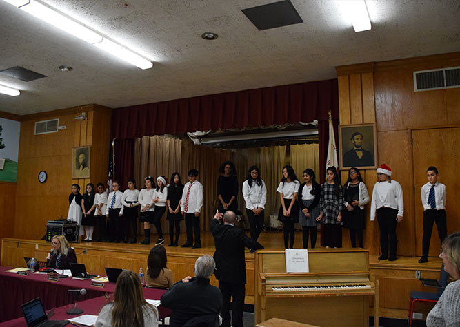 Student-singers highlighted at board meeting