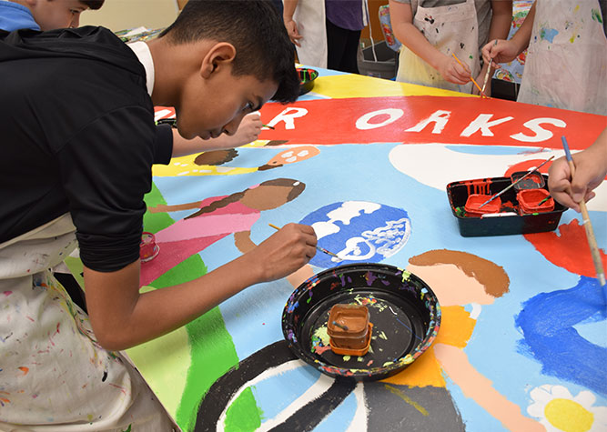 Mural Painting at Manor Oaks